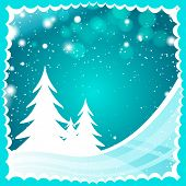 turquoise color Christmas background