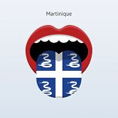 Martinique language. Abstract human tongue.