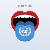 United Nations language. Abstract human tongue.