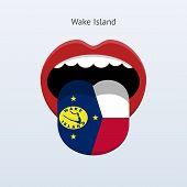 Wake Island language. Abstract human tongue.