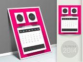 New Year 2014 calendar, monthly planner or organizer.
