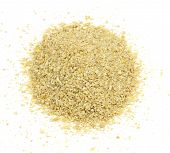 image of potash  - A pile of soybean meal an ideal organic fertilizer and supplier of trace nutrients - JPG