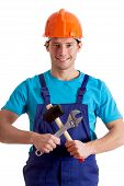 Mechanic With Crossed Tools