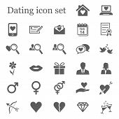 Dating icon set