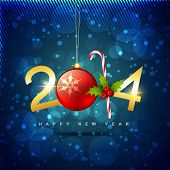 vector creative 2014 happy new year holiday design
