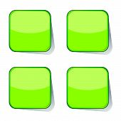 Stickers Green Vector Illustration
