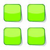 Stickers Green Vector Illustration