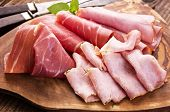 stock photo of flesh air  - cold meat plate - JPG