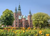 Rose Garden And Rosenborg Palace In Copenhagen