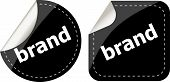 Brand Labels, Stickers, Pointers, Tags For Your (web) Page