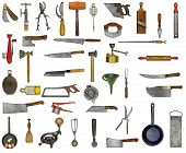 Vintage Kitchen Utensils Collage