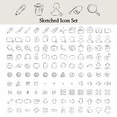 Sketched icon set