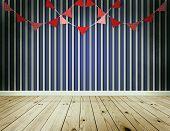 Stripe Wallpaper Background With Pennants Festoon