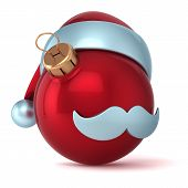 Christmas ball Santa Claus hat New Years Eve bauble red ornament decoration