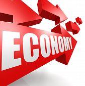 Economy arrow red