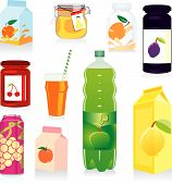 Vector Illustration Of Isolated Fruit Containers With Labels And Details