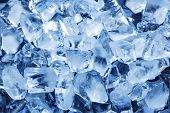 Photo of natural ice cubes. Ice background.