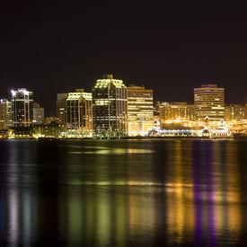 picture of dartmouth  - Night time view of the Halifax - JPG