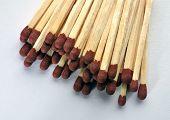 with wooden matchsticks