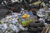 KIEV, UKRAINE - APR 19, 2014: Mass destruction after Putsch of Junta in Kiev. Kiev.April 19, 2014 Kiev, Ukraine