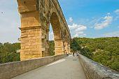 Pont Du Gard Roman Aqueduct Near Avignon France