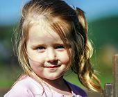Cute Little Girl Portrait, Sunny Day