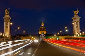 Pont Alexandre Iii At Night Illumination
