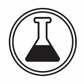 Chemical Glassware Symbol Icon Vector.eps