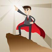 Cartoon Businessman As Leader Form