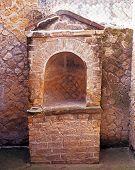 Roman architecture, Herculaneum, Italy.
