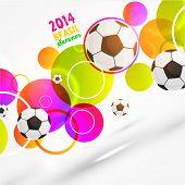 Brazil Summer 2014 Vector, Soccer Ball for Football Design