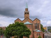 stock photo of evangelism  - St Matthauskirche evangelic church in Berlin Germany - JPG