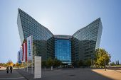 Vienna, Austria - October 3:  Main Building Of Siemens Ag Austrian Company Headquarters. Siemens Cit