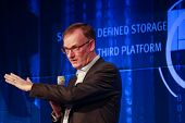 Las Vegas, Nv - May 5, 2014: Ceo Emc Information Infrastructure David Goulden Makes Speech At Emc Wo