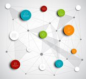Vector abstract circles illustration / infographic network template with place for your content