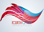 Forth of July, American Independence Day celebration poster, banner or flyer design with flag colors