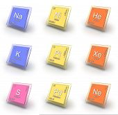 picture of palladium  - Set of isolated illustrations chemical element signs - JPG