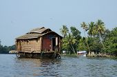tourist boats at Kerala backwaters,Alleppey,Kerala,India