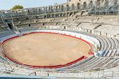 Roman Amphiteathre In Arles, France.
