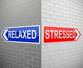 Stressed Or Relaxed Concept.