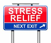 pic of stress relief  - Illustration depicting a sign with a stress relief concept - JPG