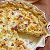 picture of leek  - quiche lorraine  - JPG