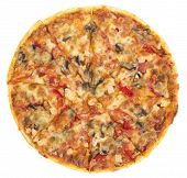 Pizza italiano (top view)