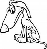 Poor Dog Cartoon Coloring Page