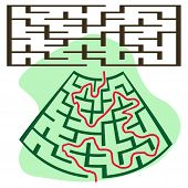 Square Deformed Maze