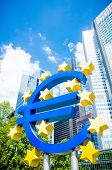Euro Sign. European Central Bank (ECB) is the central bank for the euro and administers the monetary