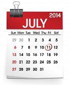 Calendar of July 2014