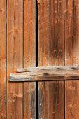 Old Wooden Weathered Barn Door