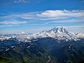 Mt Rainier Facing Mt Adams