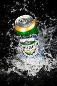 MOSCOW, RUSSIA-APRIL 4, 2014: Can of Bavaria Beer. Bavaria is the second largest brewery in the Neth